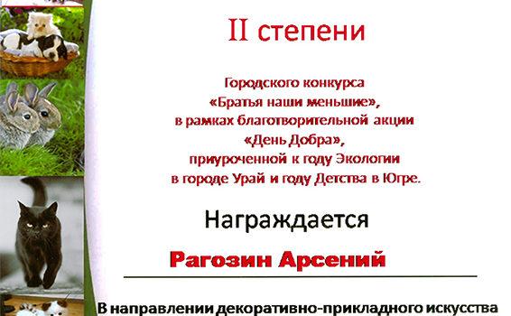 Арсений Рагозин 2016