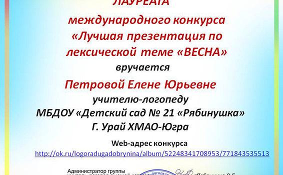 Петрова Е.Ю. лучшая презентация 2015