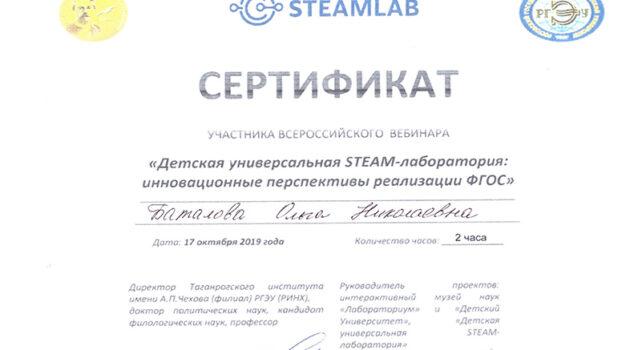Сертификат Баталова вебинар2019