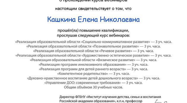 Сертификат об окончании курса вебинаров-1 2020 каш
