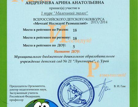 Андрейчева Арина425