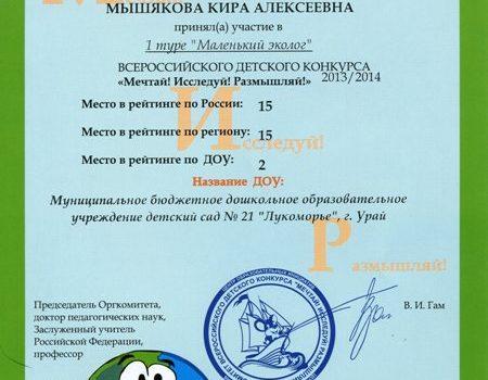 Мышякова Кира423