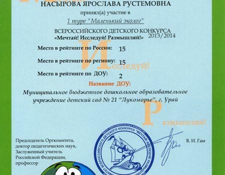 Насырова Ярослава424