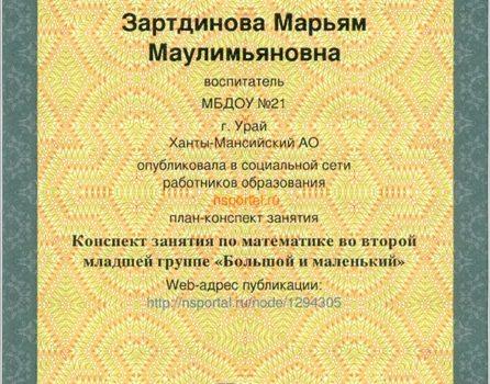Зартдинова М.М.26