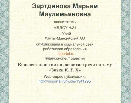 Зартдинова М.М.27
