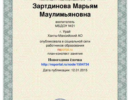 Зартдинова М.М.31