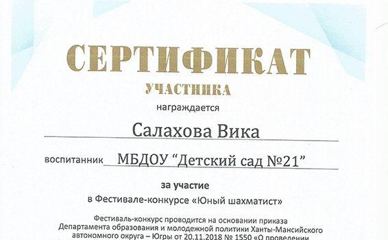 Вика Салахова 2018