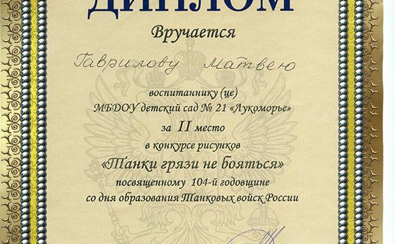 Гаврилов Матвей 2018