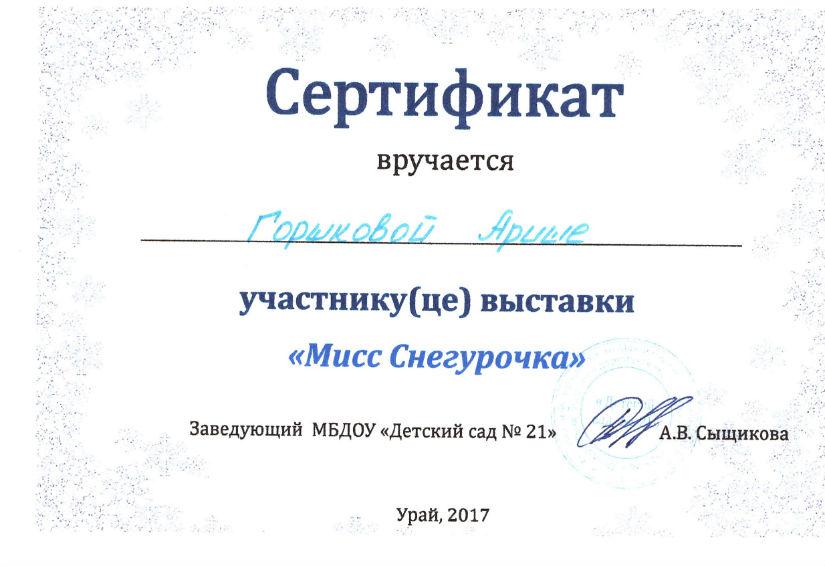 Горшкова 2017