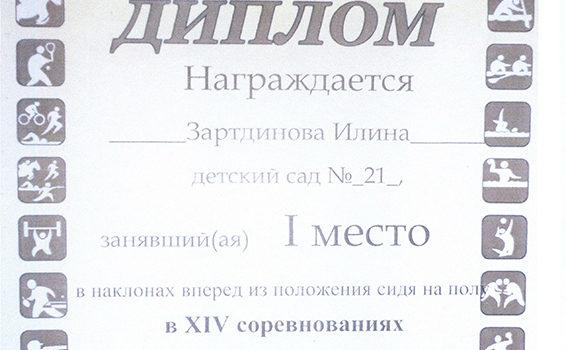 Губернаторские состязания Зартдинова Илина 2016