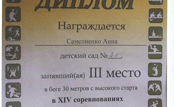 Губернаторские состязания Самсоненко Анна 2016