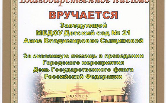 День государственного флага Сыщикова