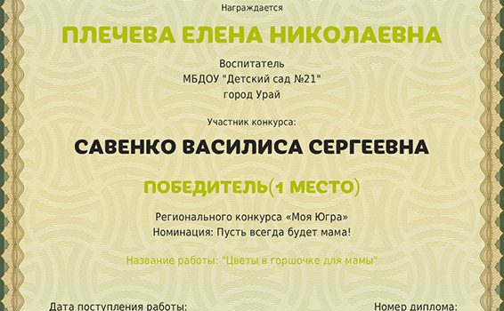 Диплом руководителя Савенко Василиса2017