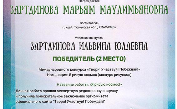 Зартдинова куратор Зарт 2019