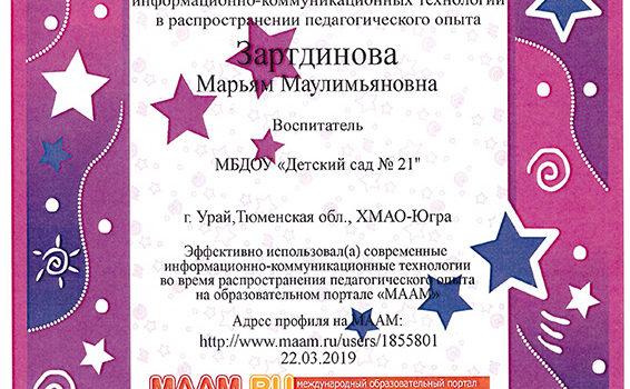 ИКТ маам Зартдинова 2019