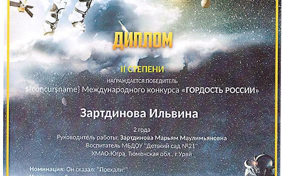 Ильвина день космонавтики 2019