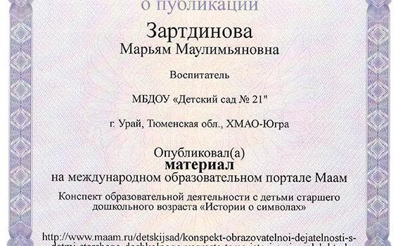 История о символах Зартдинова 2019