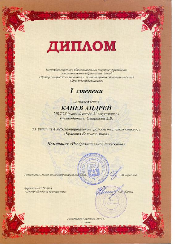 Канев Андрей 2014