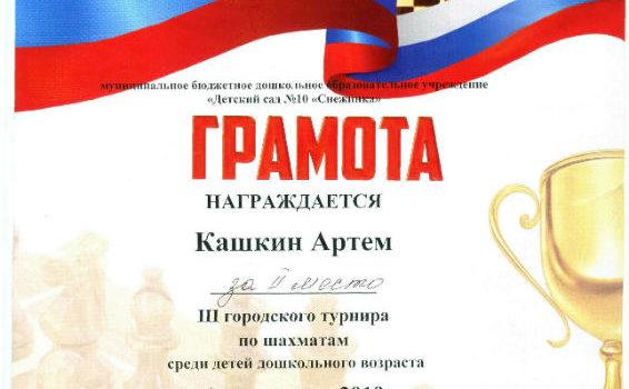 Кашкин Артём2019 шахмат