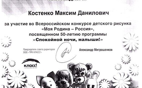 Костенко Максим 2015