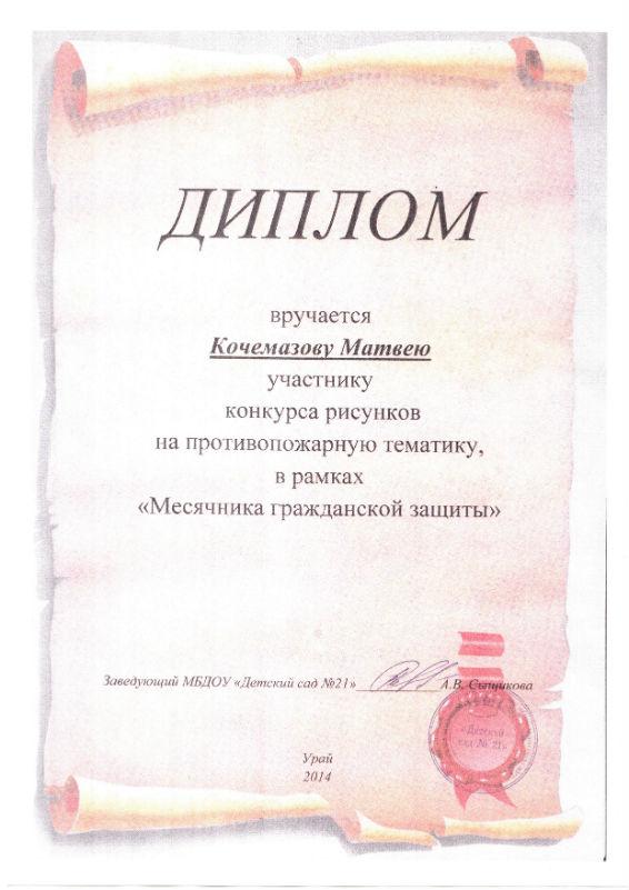 Кочемазов М. 2014