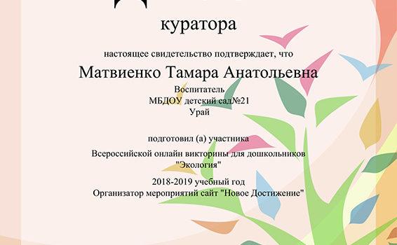 Куратор Матвиенко 2019
