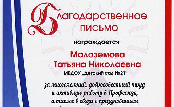 Малозёмова Т.Н.