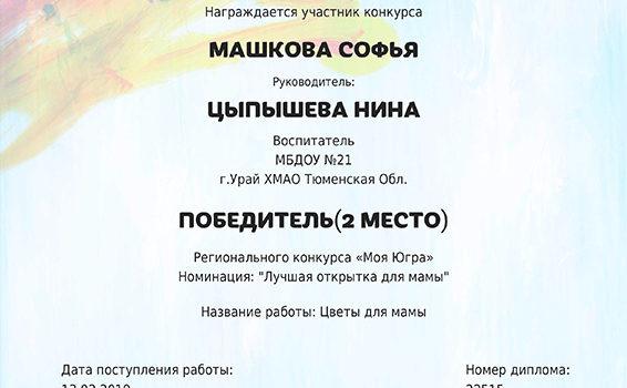 Машкова Софья 2019