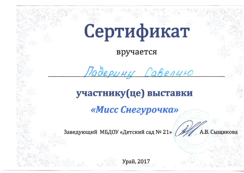 Падерин 2017