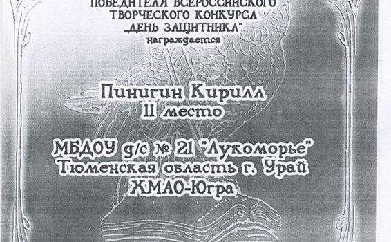Пинигин Кирилл2014