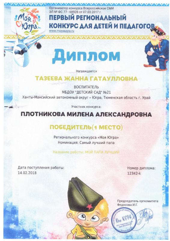Потникова Милена 2018