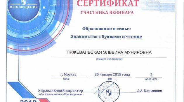 Сертификат участника вебинара2018