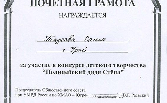 Тазеева Саша2016