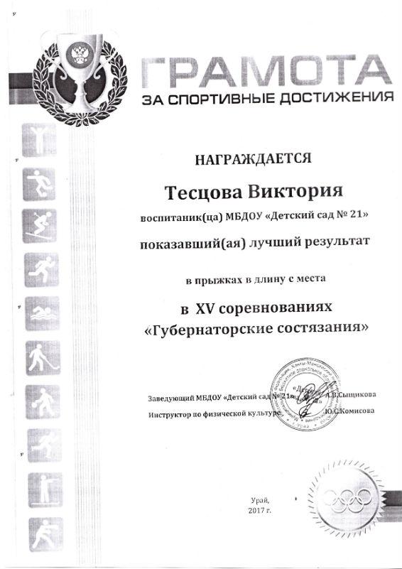 Тесцова 2017