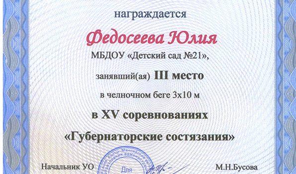 Федосеева Юлия 2017