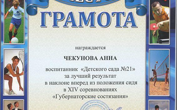 Чекунова Анна