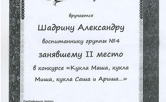Шадрин Александр 2014г