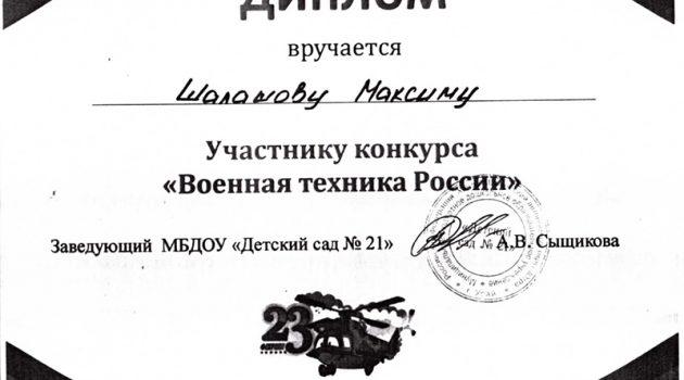 Шалашов Максим2017