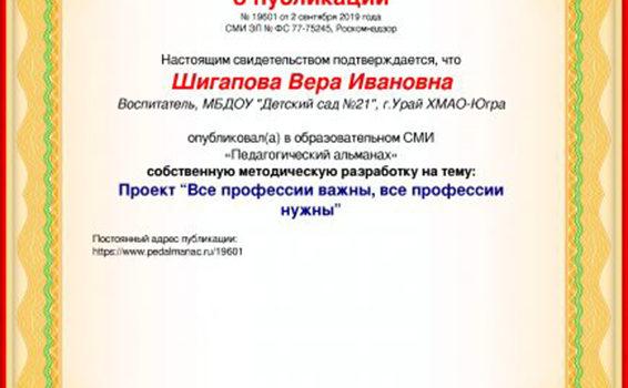 Шигапова 2019, публикация