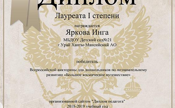 Яркова И2019