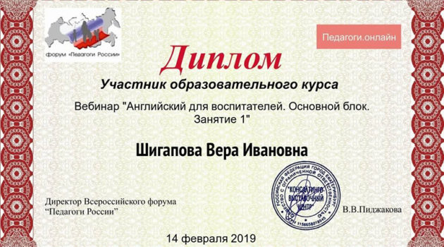 анг 1 Шигапова 2019