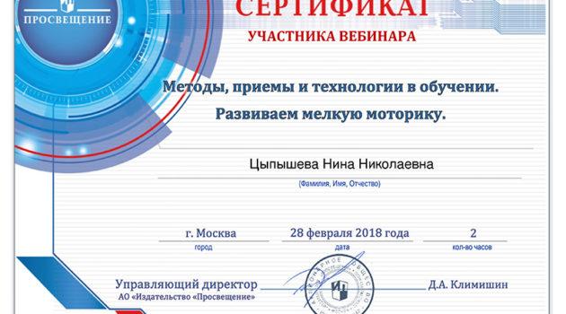 методы приемы Вебинар 2018