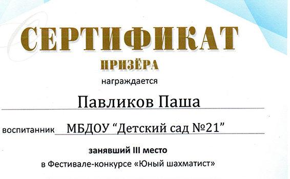 павликов П.2 место 2018