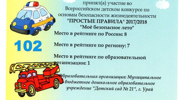 сертификат Забора Полина