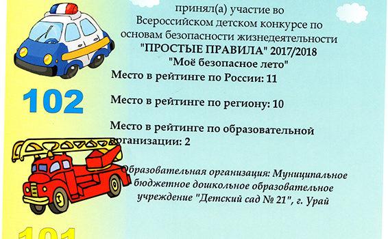 сертификат Хурматова Мария