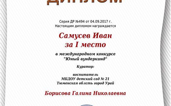 Самусев Иван диплом