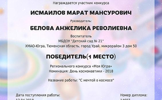 Имаилов 2018 Космос