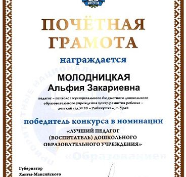 Лучший педагог 2009