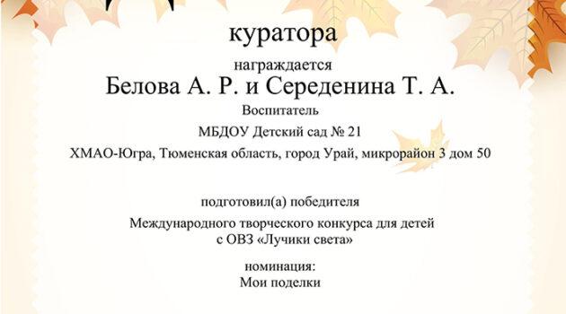 куратор 2019ОВЗ