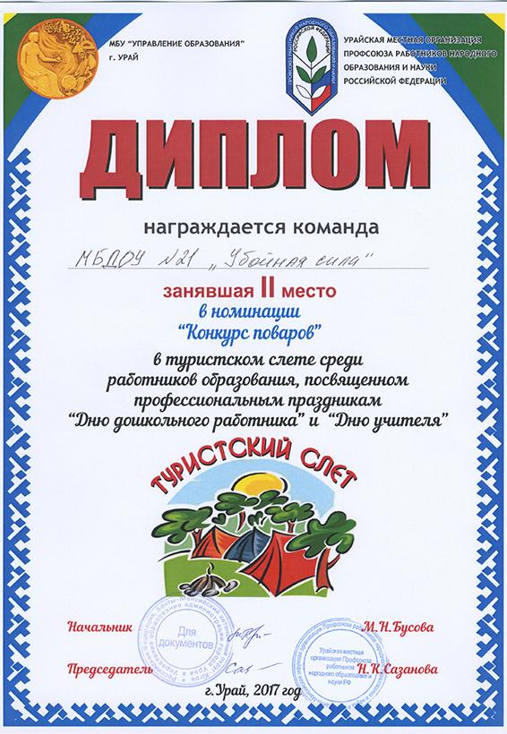 ТУРСЛЕТ (конкурс поваров)